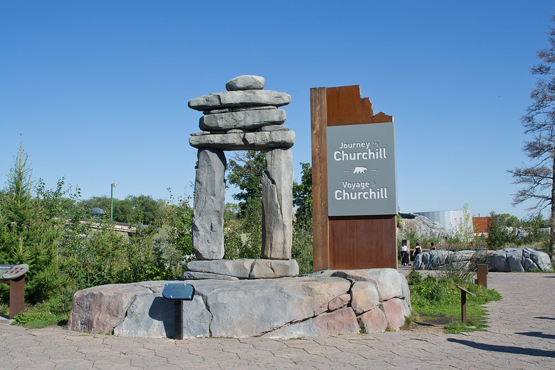 Journey to Churchill Welcome Sign, Assiniboine Zoo, Winnipeg, Manitoba | packmeto.com