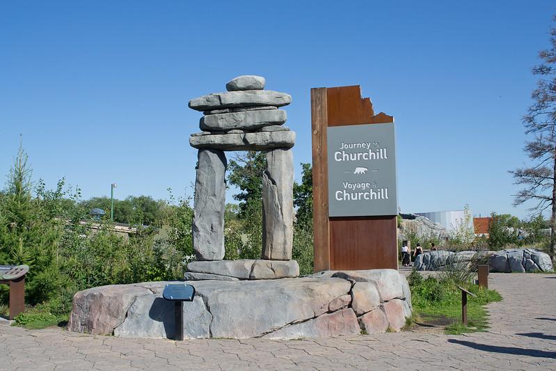 Journey to Churchill Welcome Sign, Assiniboine Zoo, Winnipeg, Manitoba | packmeto.com