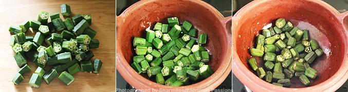 How to make Vendakkai Puli Kuzhambu Recipe - Step2
