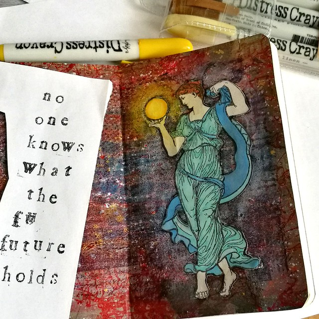 Mini Art Journal Fortune Teller