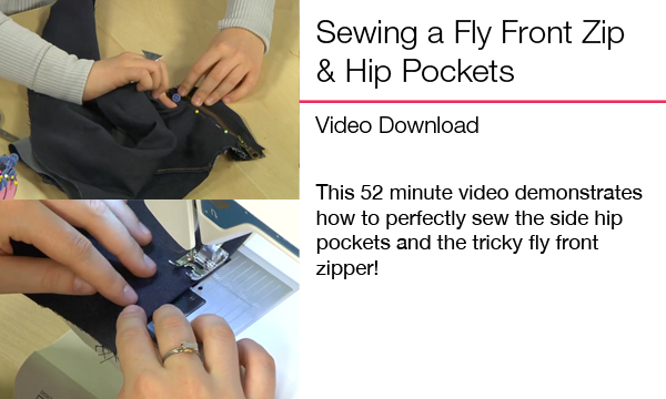 fly front zipper and pockets