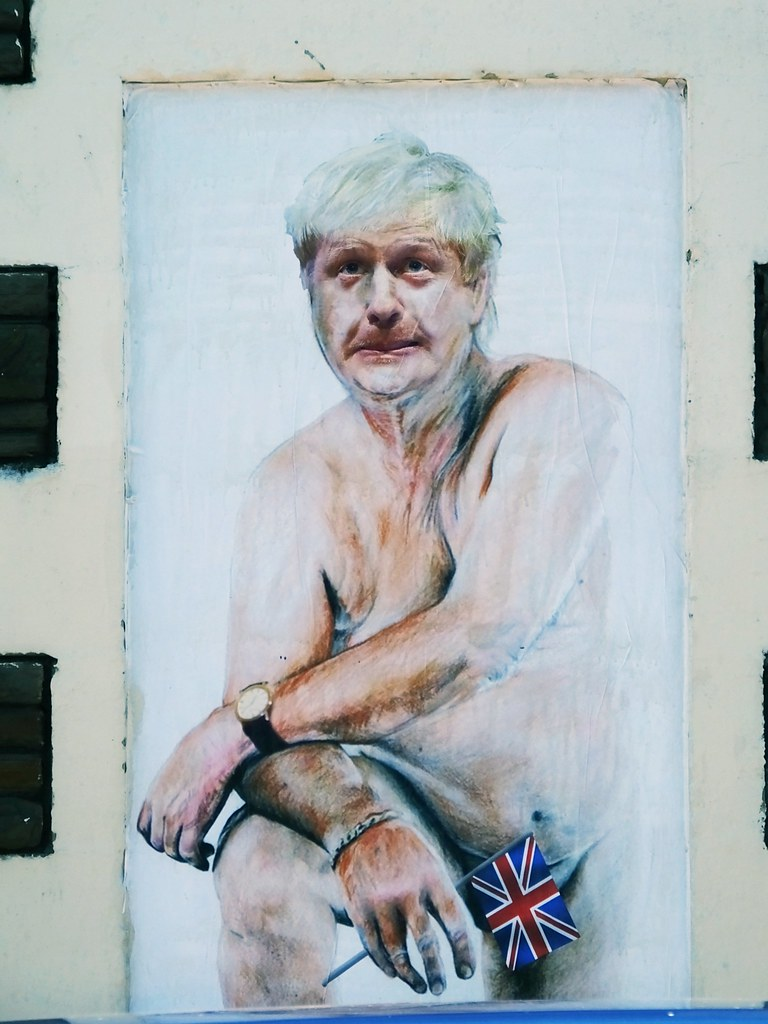 Boris Johnson Brexit street art