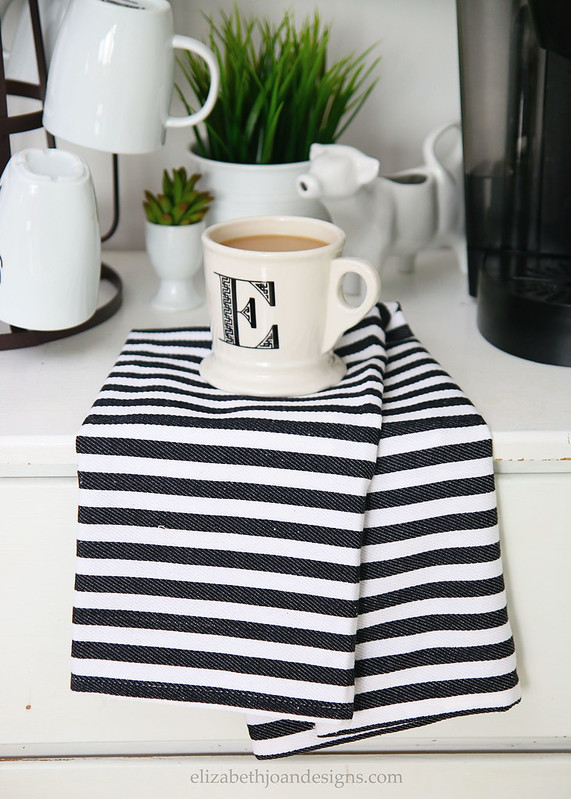 Monogram Mug Striped Towel