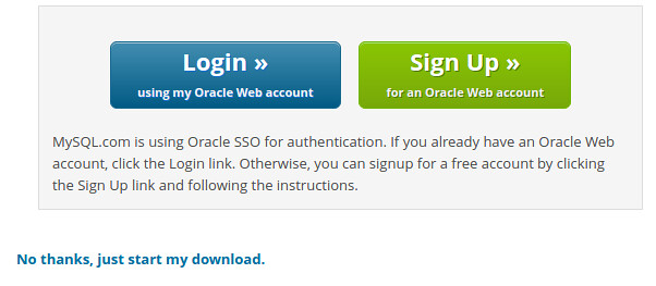 Login Oracle Web account