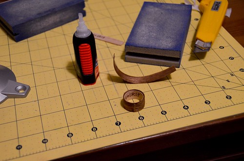 15 Let super glue dry, you have raw ring