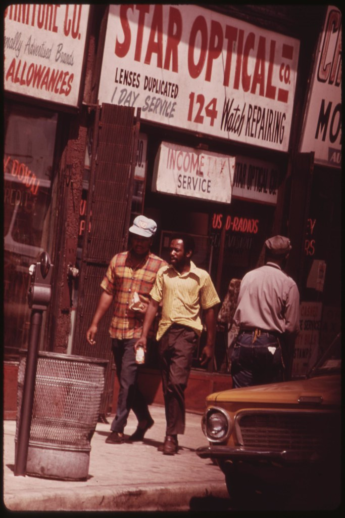 Ghetto Street Scene In Chicago On The South Side. The City Census Figures Show A Significant Gap In Economic Security Between Blacks And Whites, 07/1973 | by The U.S. National Archives