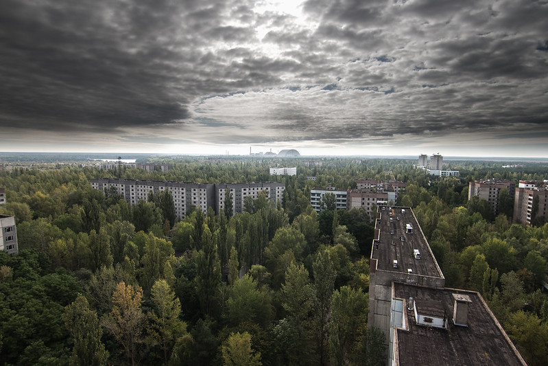 View to Chernobyl