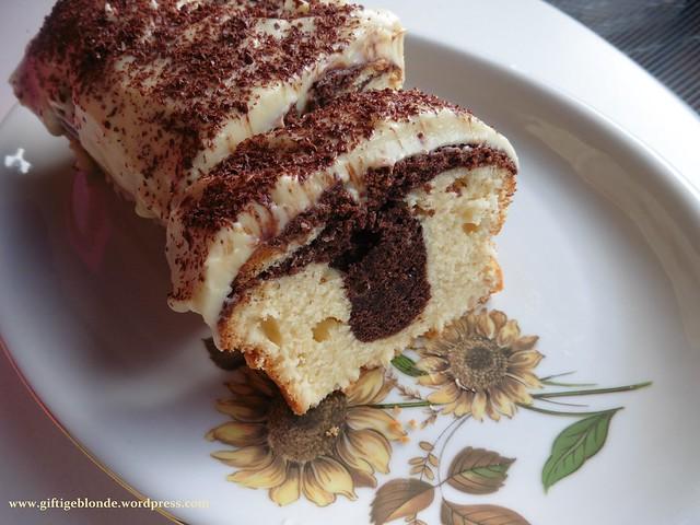 Marmorkuchen mit weißer Schokolade (3)