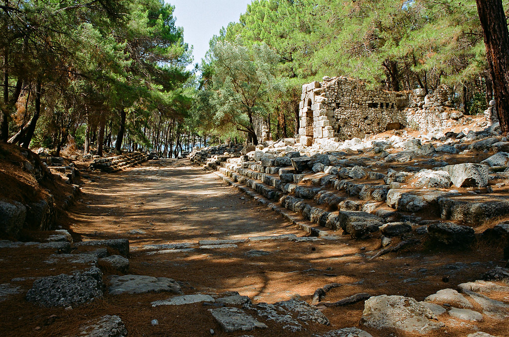 Phaselis, main street, view to South harbour