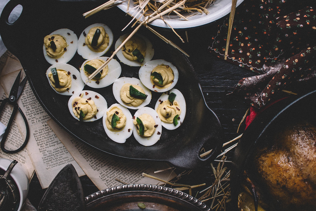 Deviled Eggs with honeyed jalapenos | TermiNatetor Kitchen