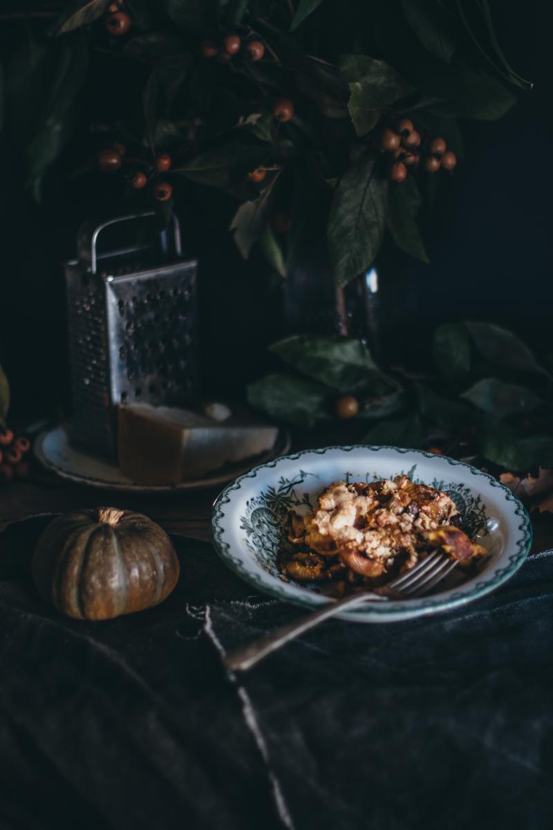 Saffron Pumpkin Pasta Bake for Virtual Pumpkin Party | Pasta al Forno con la Zucca | Lab Noon by Saghar Setareh-14