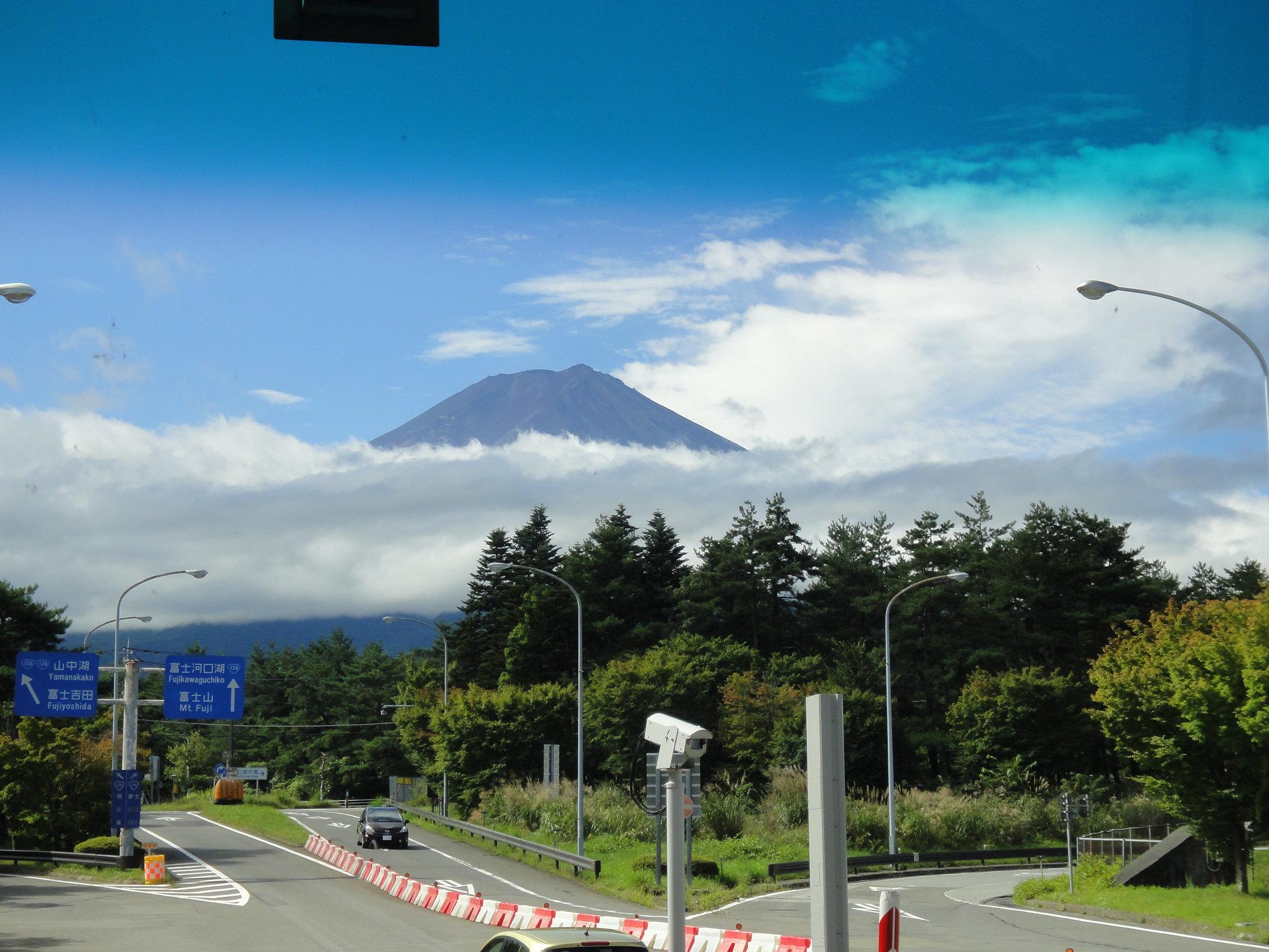Mount Fuji på avstånd