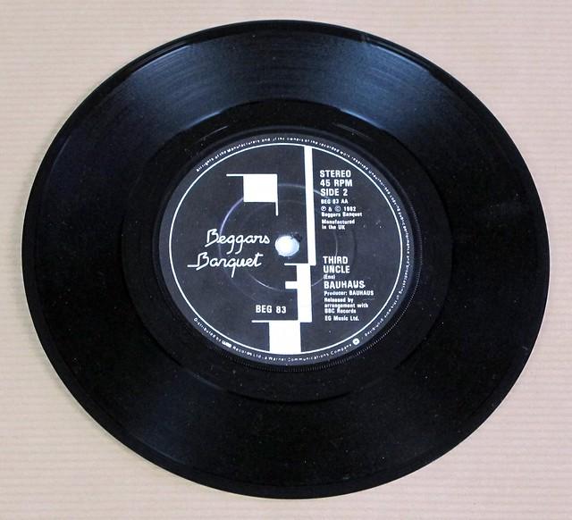 "BAUHAUS ZIGGY STARDUST / THIRD UNCLE ORIG UK 7"" PS SINGLE VINYL"