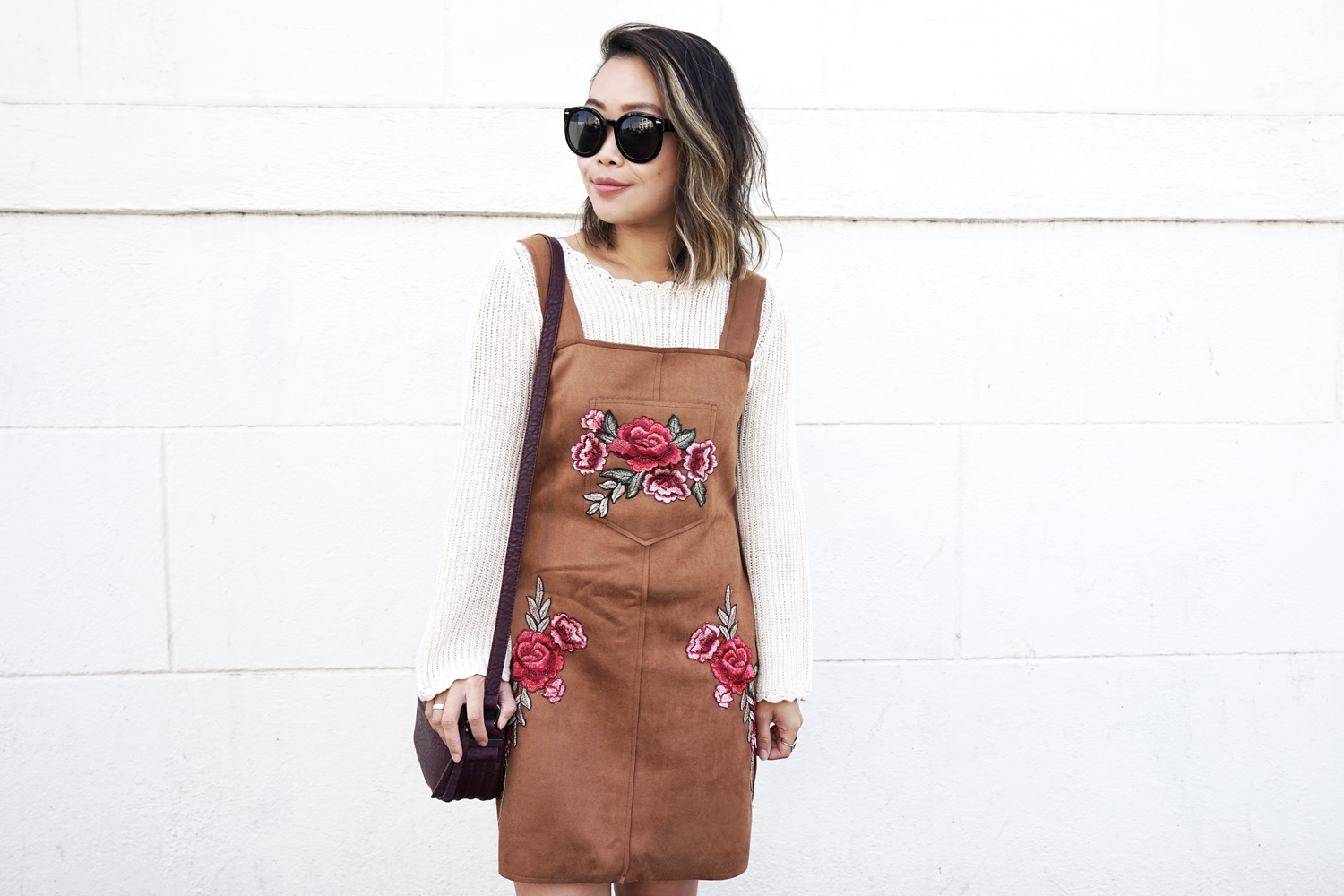 07suede-pinafore-floral-embroidery-knit-sweater-fall-fashion-style