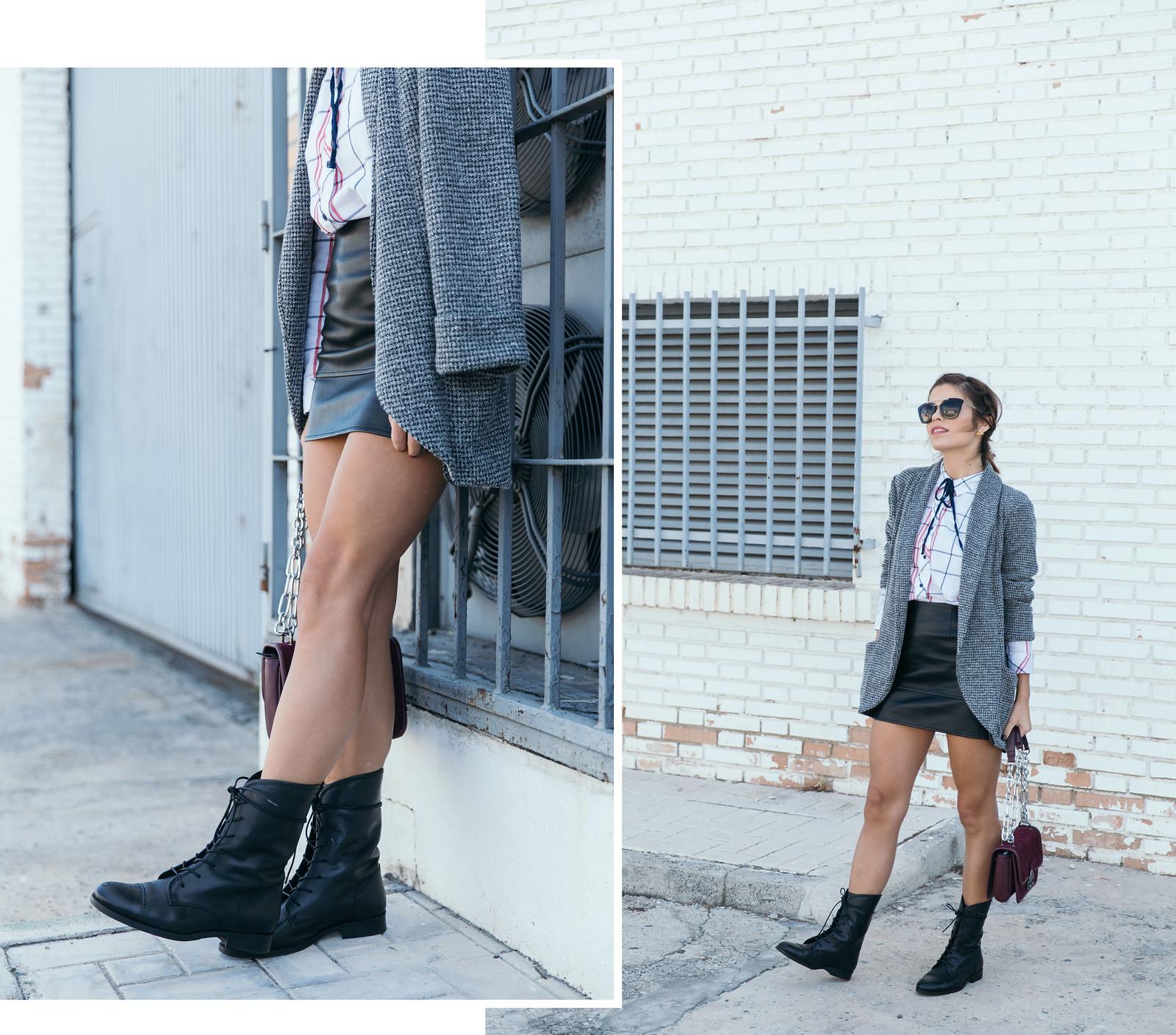 Jessie Chanes Seams for a desire - Black Boots Itshoes Parfois bag faux leather skirt-1