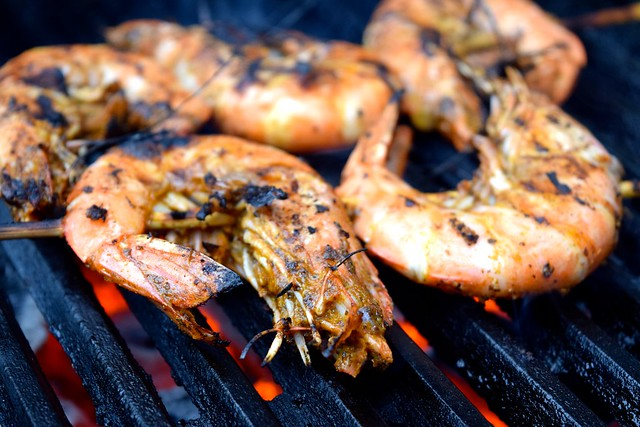 Giant Barbecue Cajun Shrimp | www.rachelphipps.com @rachelphipps
