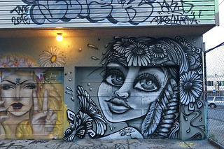 Osage Alley Murals - Girl mural