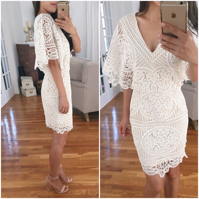 modcloth white lace dress bridal shower