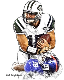 New York Jets Tim Tebow - New York Giants Will Hill | by Jack Kurzenknabe