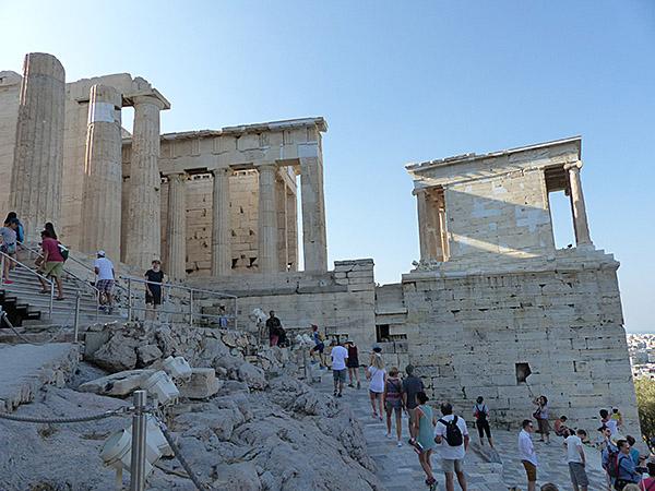 grimpette au Parthénon