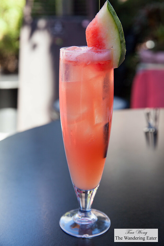 Electrolyte - vodka based watermelon summer cooler with fresh pineapple and lemon