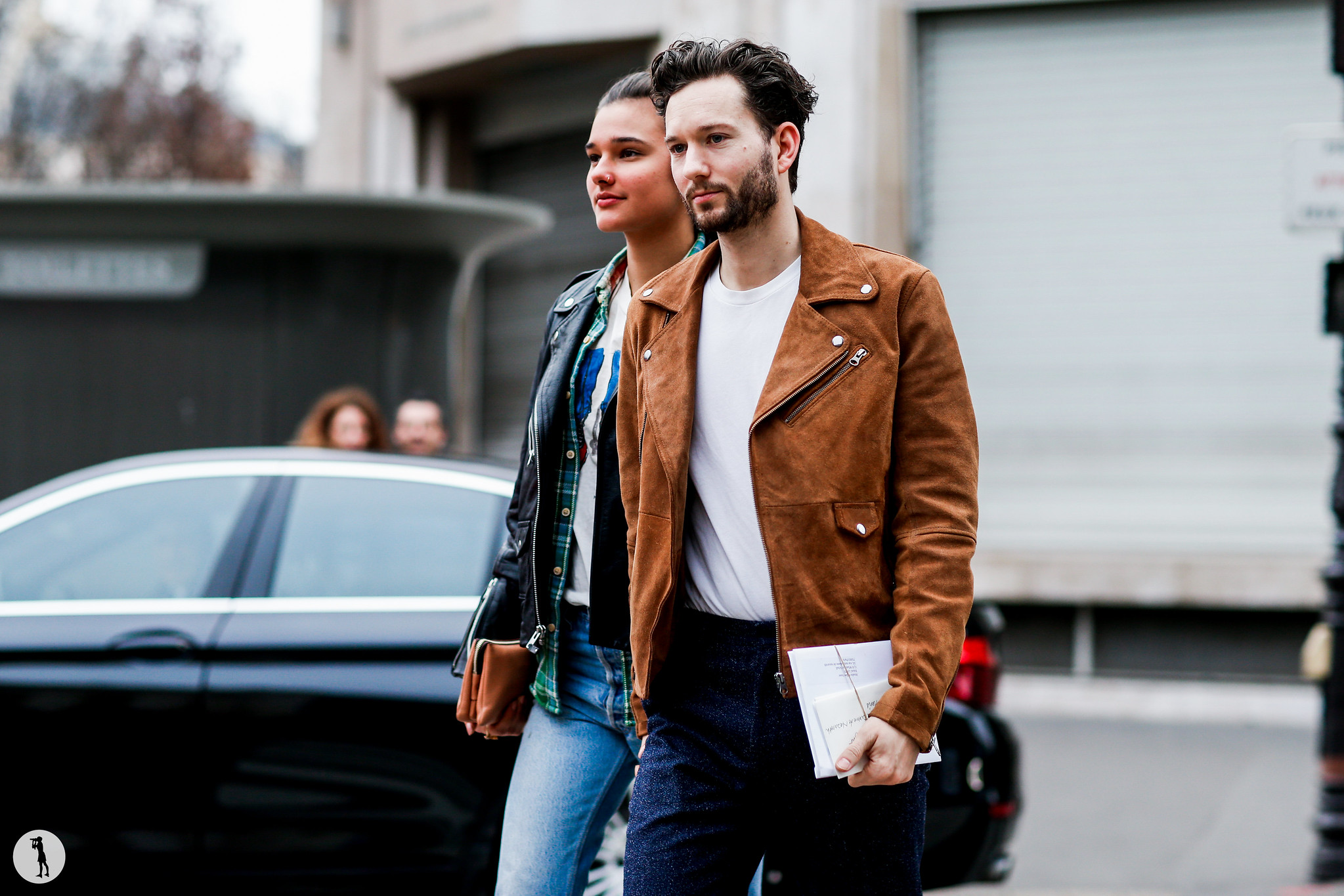 Jenny Albright and Isaac Hindin-Miller at Paris Fashion Week Menswear 2