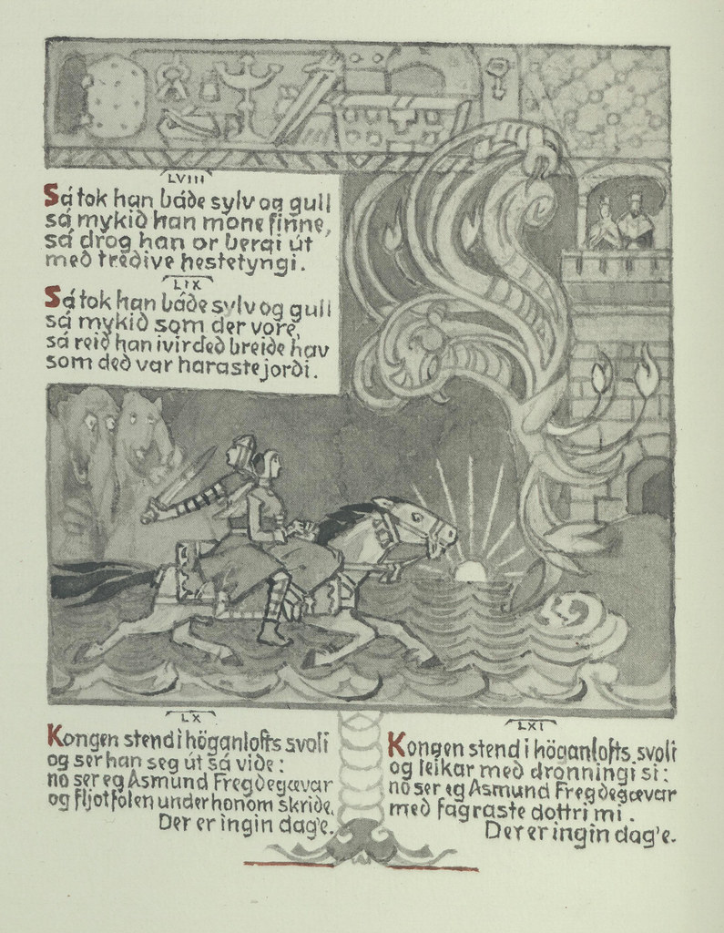 Gerhard Munthe - Norwegian Folk Tales, Illustrated Page 5, 1933