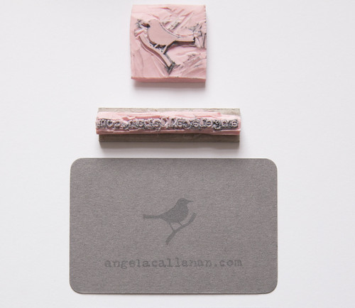 angelacallanan.com - Rubber Stamp Business Card