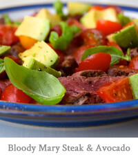 Bloody Mary Steak & Avocado