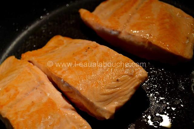 Saumon Croustillant aux Herbes et au Curry  © Ana Luthi Tous droits réservés 003