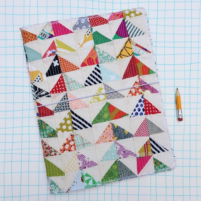 SOLD! Day 77/100 #robayre100days #the100dayproject I created 3, XL moleskine cahier sized, quilted, fauxdori travel journals. That's a mouthful. More to come!