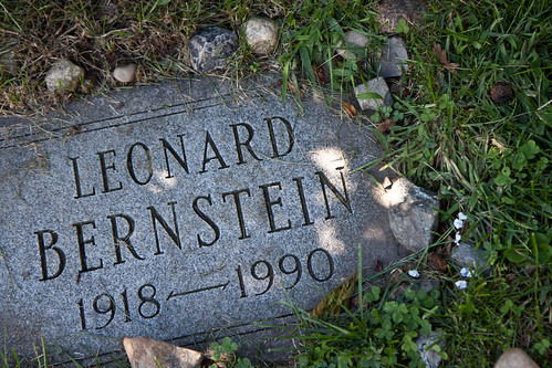 Leonard Bernstein's grave at Green-Wood Cemetery