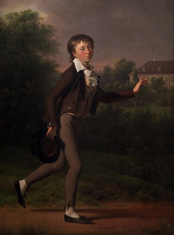 Jens Juel - A Running Boy. Marcus Holst von Schmidten (1802)