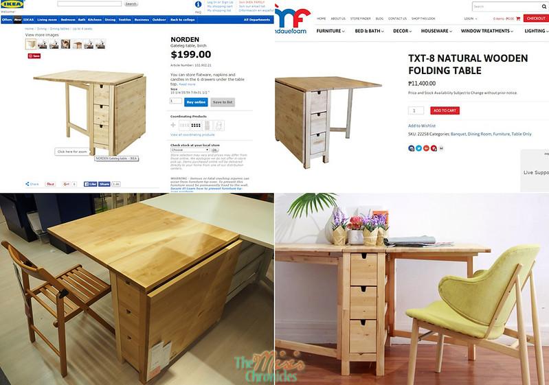 Ikea vs. Mandaue Foam folding tables