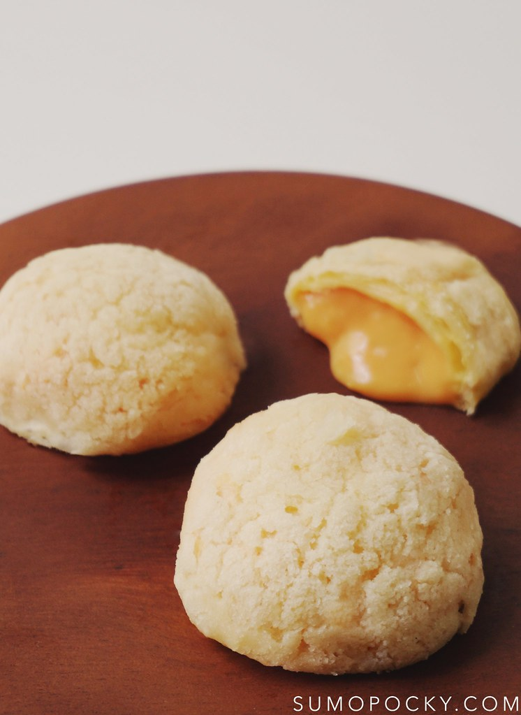 Salted Egg Yolk Choux au Craquelin