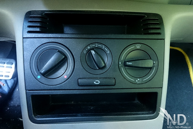 VW Lupo Stock heater knobs