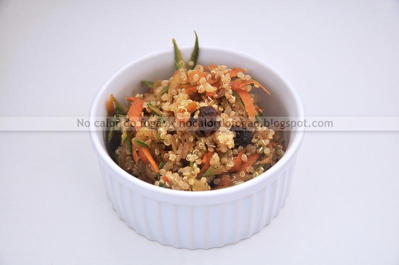 Quinoa ao estilo marroquino