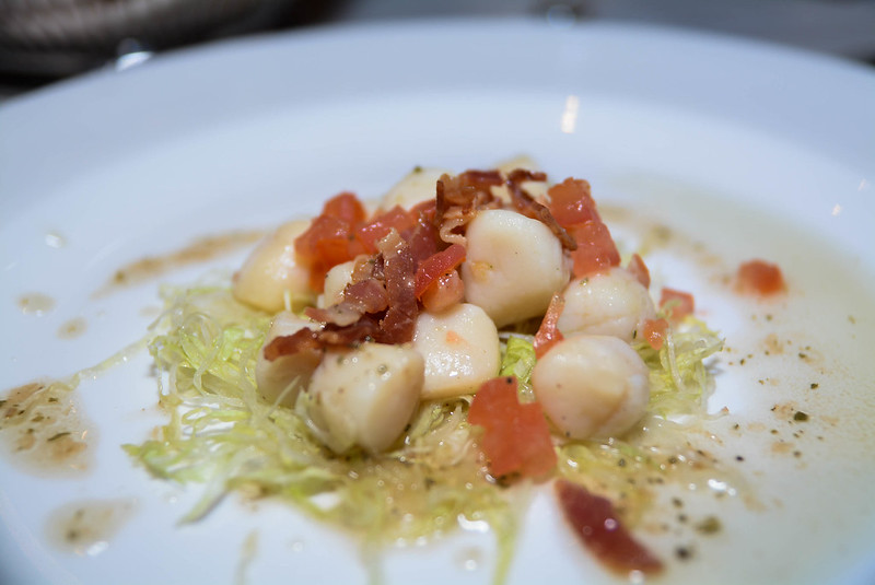 Bay Scallop Cocktail with Pancetta & Sage Vinaigrette