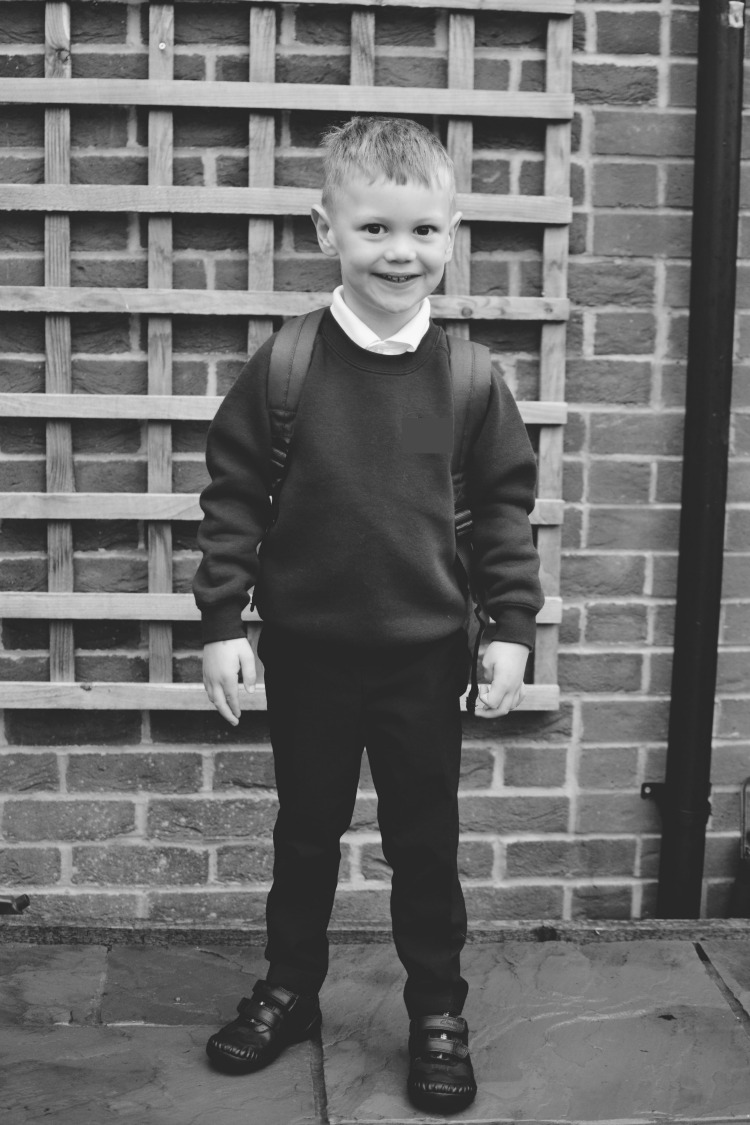 First day at school smiles