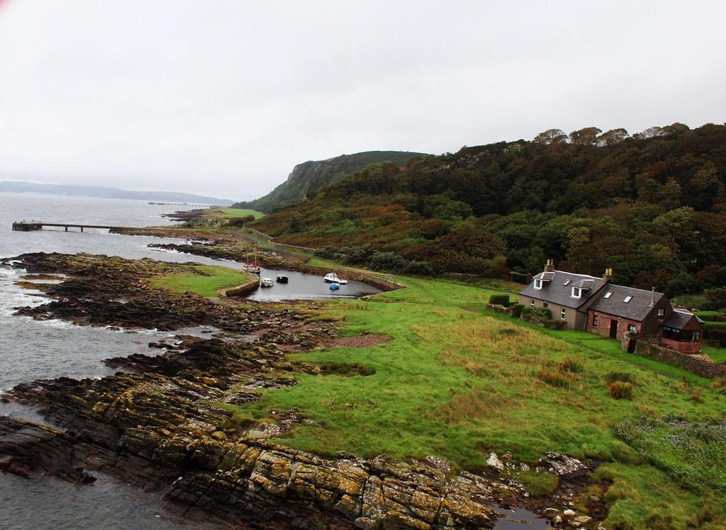 Coastal View from atop Portencross Castle, Ayrshire, Scotland.