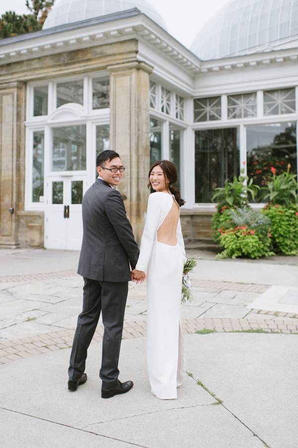 Celine Kim Photography Allan Gardens Auberge du Pommier romantic intimate restaurant Toronto fall wedding-30