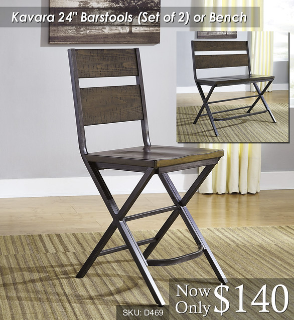 Kavara 24in Barstools or Bench