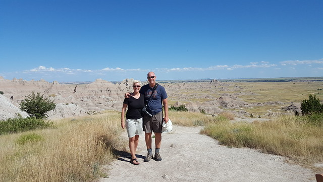 Fred & Laura at Badlands NP