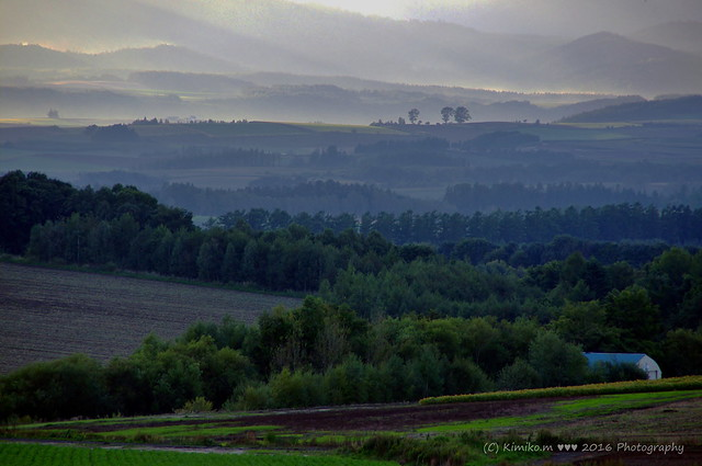 山霞の風景