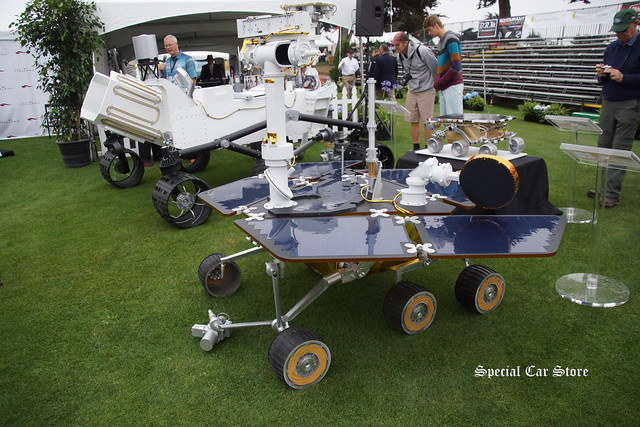 Mars Rover that was on display at the stage at Concorso Italiano