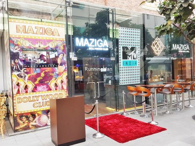 Maziga Cafe & Bollywood Club Entrance