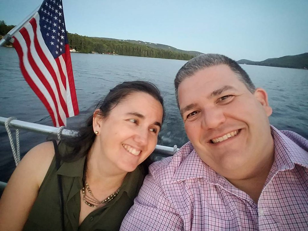Beautiful night on Lake Sunapee with the love of my life.