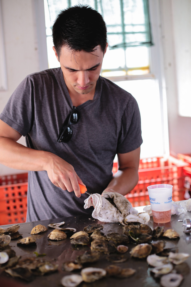 island creek oyster farm tour shucking_nick_boston blog