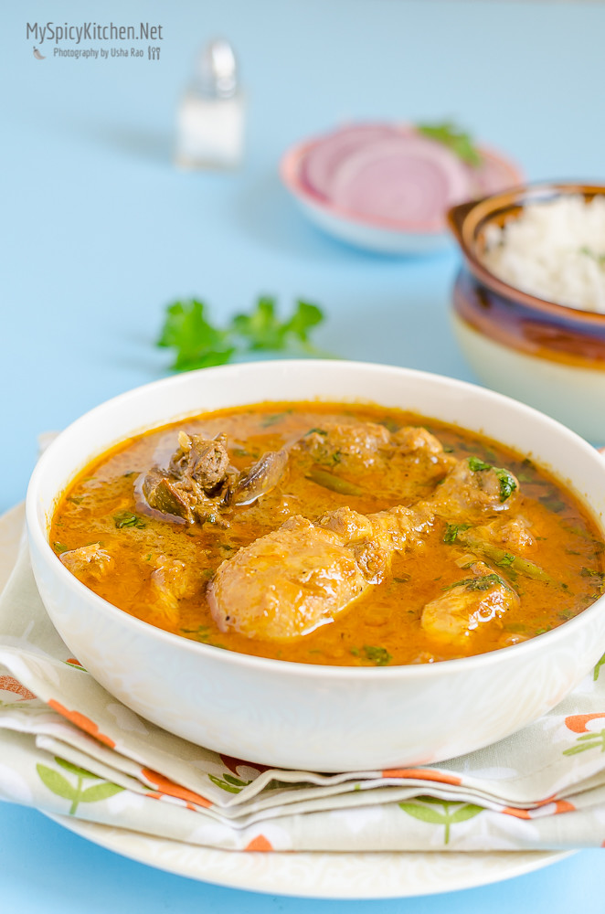 Chicken Curry, Indian Curry, Indian Food, Indian Cuisine, Curry, Blogging Marathon, Cooking Carnival, Protein Rich Food, Cooking With Protein Rich Ingredients, Cooking With Chicken, No Tomato Curry, Cashew Chicken Curry, Chicken Korma,
