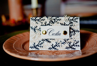 DIY Autumn Leaf Table Place Cards | by CieraHolzenthal